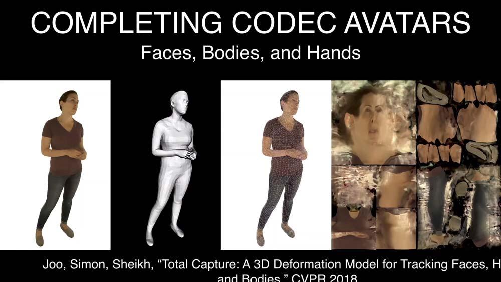 Facebook will nach dem Kopf auch den Rest des menschlichen Körpers realistisch in VR übertragen. Erste Experimente laufen bereits. Bild: Facebook
