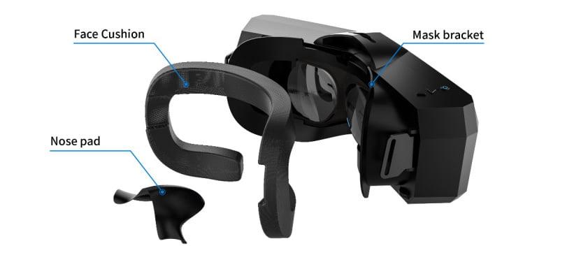 Pimax verbessert unter anderem die Gesichtsauflage der VR-Brille. Bild: Pimax