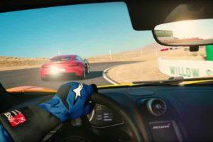 Eine Überholszene aus dem Videpsiel Gran Turismo Sport
