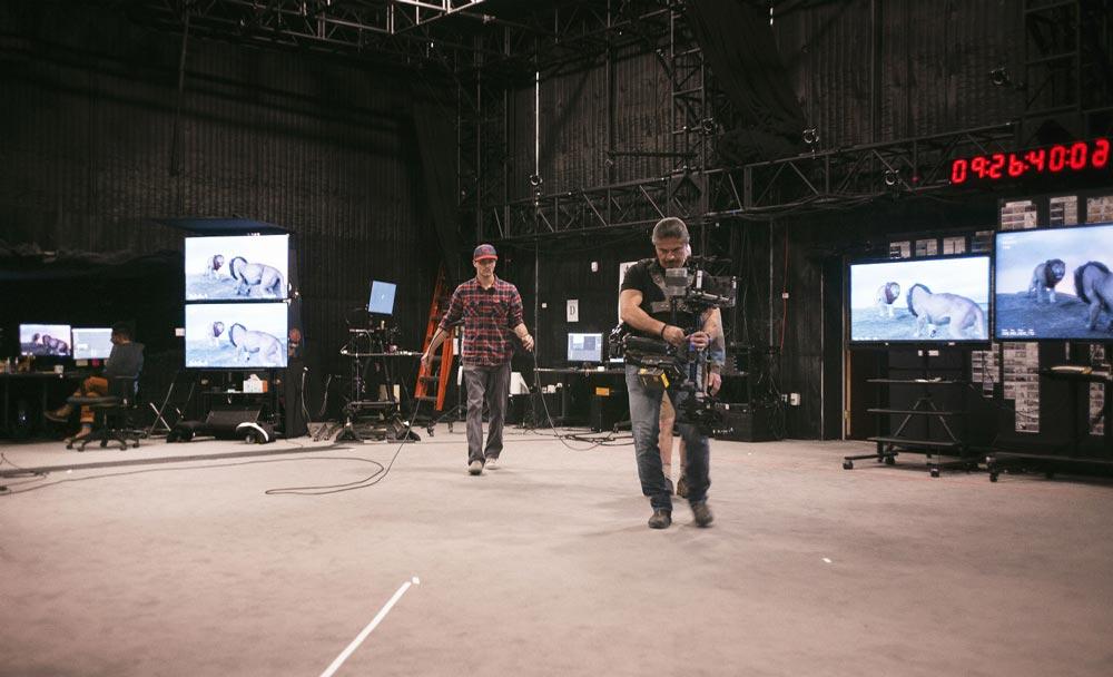 Die virtuelle Stage. Bild: Disney