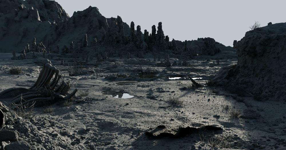 Zuerst wurde die VR-Landschaft entworfen. Bild: Disney