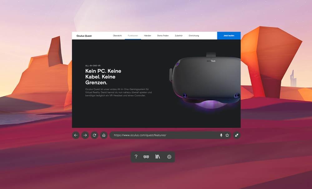 Firefox Reality könnte die Datenschutzalternative zum Oculus-Browser sein.
