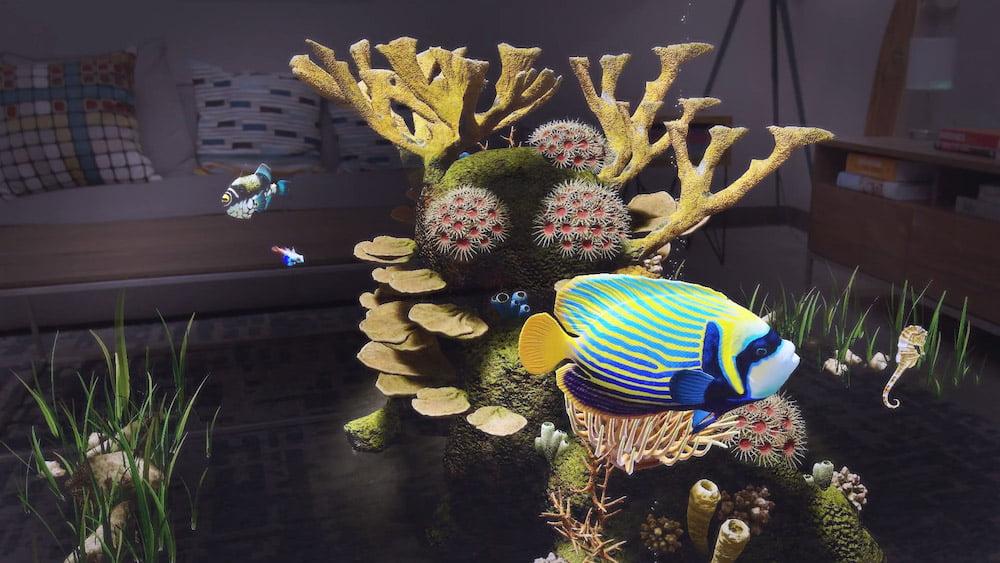 Im Gegensatz zum undankbaren Nemo wird dieser Digitalfisch nicht einfach flüchten. Bild: Magic Leap