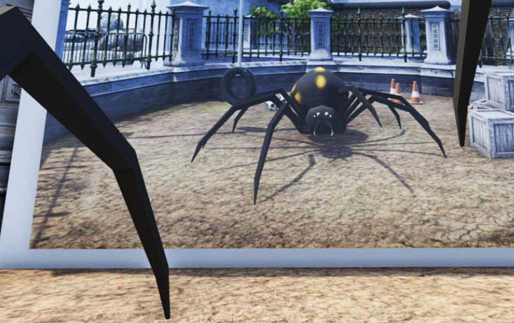 Ob man im Körper einer Spinne seine Spinnenangst besiegen kann?
