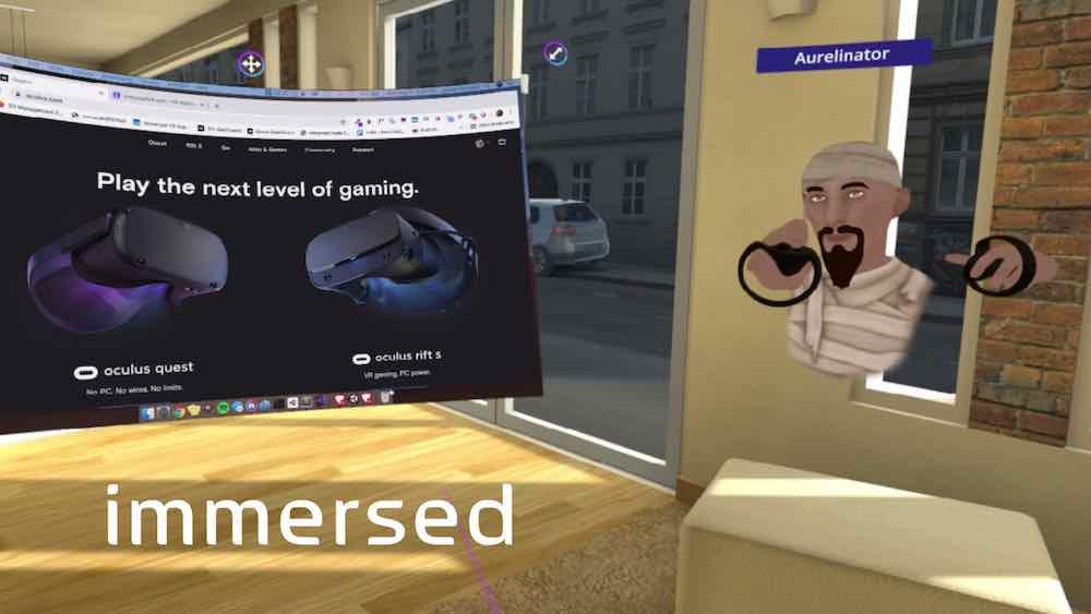 Das US-Startup Immersed arbeitet an einer App, mit der sich räumlich entfernte Arbeiter in VR treffen und produktiv sein können.
