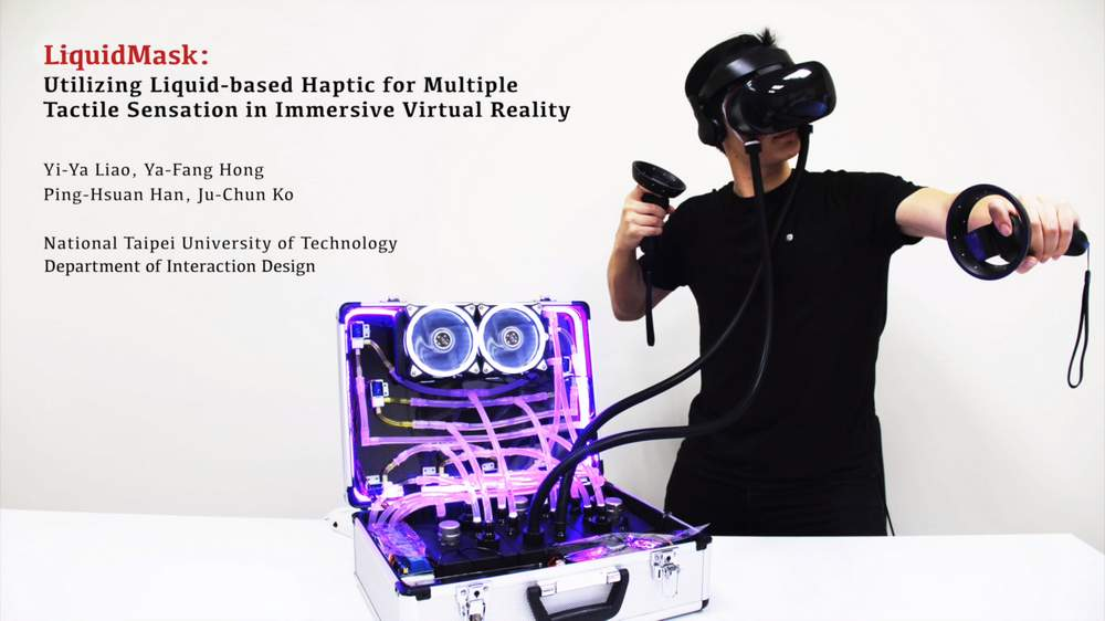 VR-Zubehör LiquidMask ist ein Prototyp für die Vermittlung von Gefühl in VR