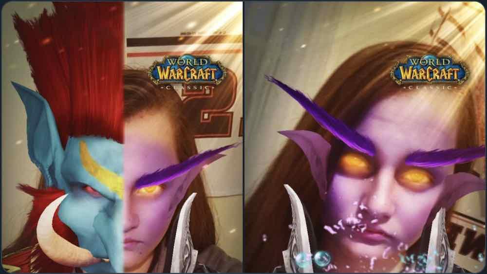 Zum Start von WoW Classic bringt Blizzard Snapchat-Filter heraus, die euch je nach Wunsch in einen Troll oder Nachtelf verwandeln.