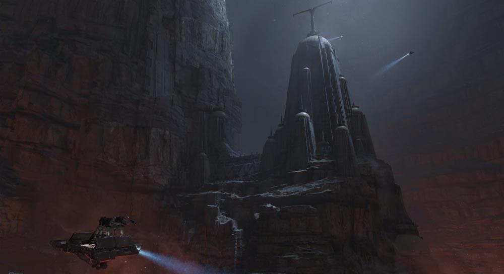 Im Corvax Fortress will Vader was abholen und ihr sollt helfen. Bild: Disney