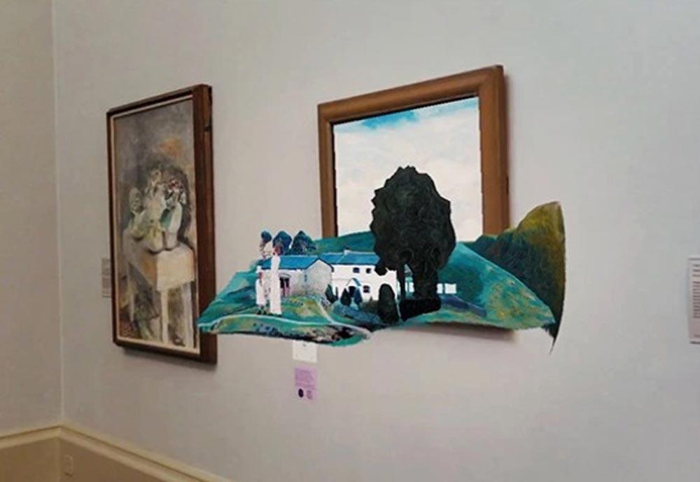 Einige Gemälde im berühmten Tate Museum in London werden digital lebendig.