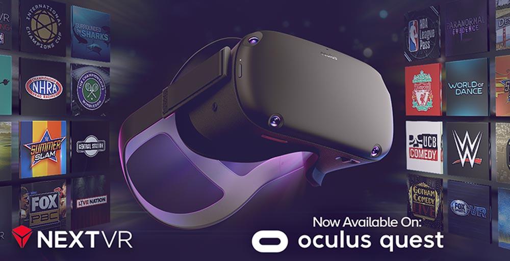 Oculus Quest: VR-Streaming-App NextVR kommt mit neuer Technologie