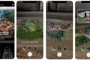 Das Time Magazine veröffentlicht eine AR-App, die Nutzer den Amazonas und die Gründe für dessen Abholzung näherbringt.