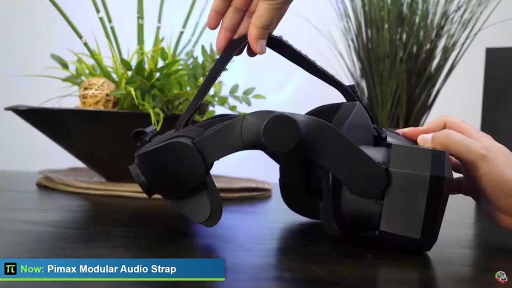 Das Modular Audio Strap bietet integrierte Lautsprecher. Die sitzen in dem runden Element an der Seite der Halterung. Bild: Screenshot.