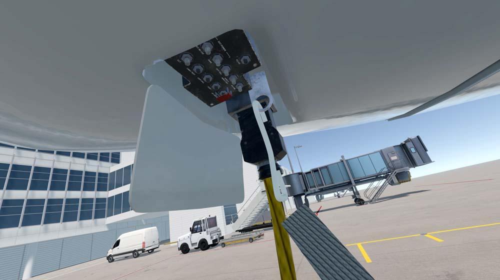 Hier stellt der Pilot vor dem Flug die Temperatur der Kaffeemaschine ein. Oder wie war das gleich? Bild: Aeroground Flughafen München