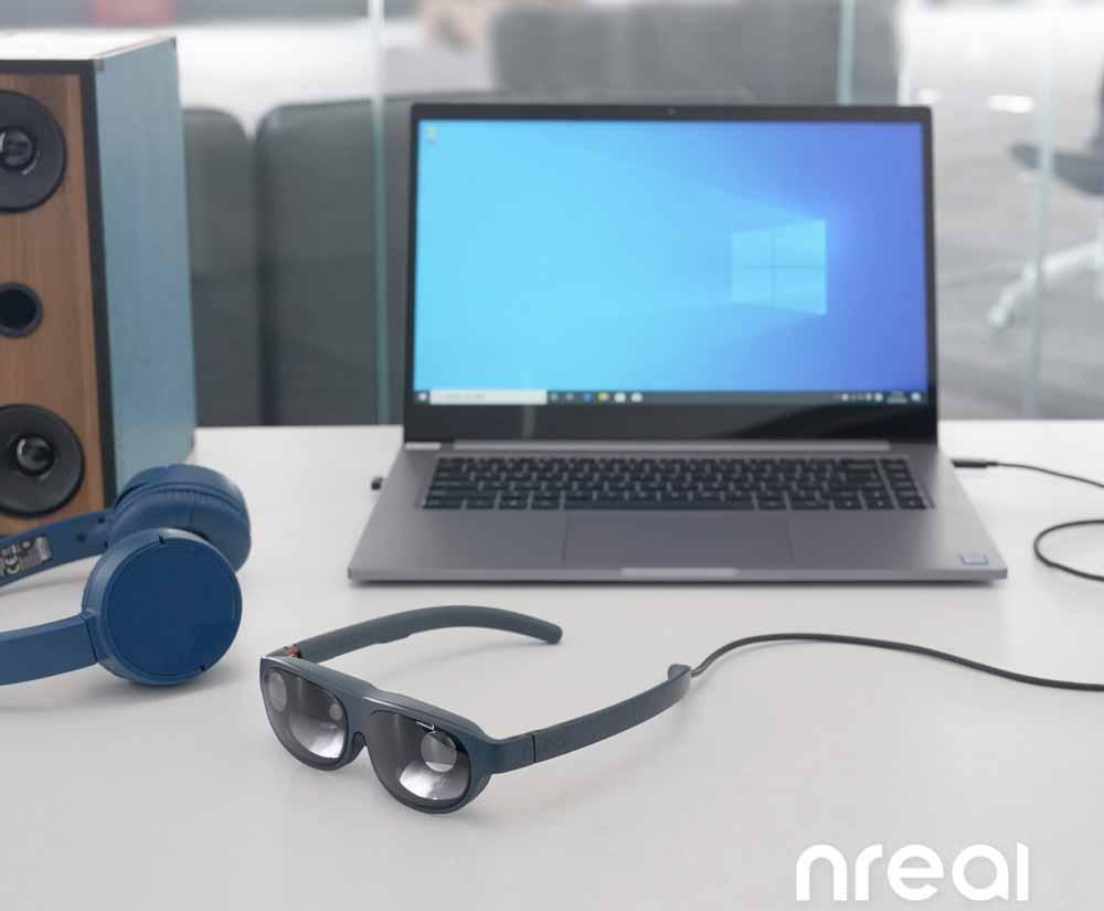 Mehr Grafik- und Rechenleistung für die Augmented-Reality-Brille Nreal dank PC-Verbindung.