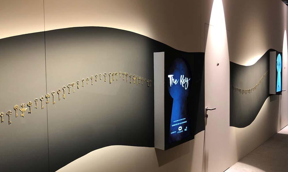 """Hinein ins VR-Erlebnis """"The Key"""". Bild: Pola Weiß"""