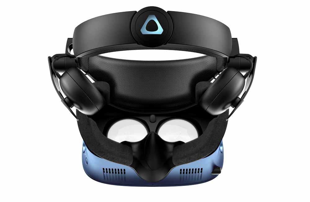 Blick auf die Linsen der Cosmos-Brille. Bild: HTC