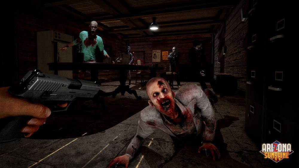 Arizona Sunshine The Damned Test mit Waffe auf Zombies zielen