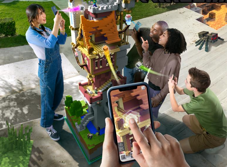 Ab geht's in die Augmented-Reality-Klötzchenwelt von Minecraft Earth.