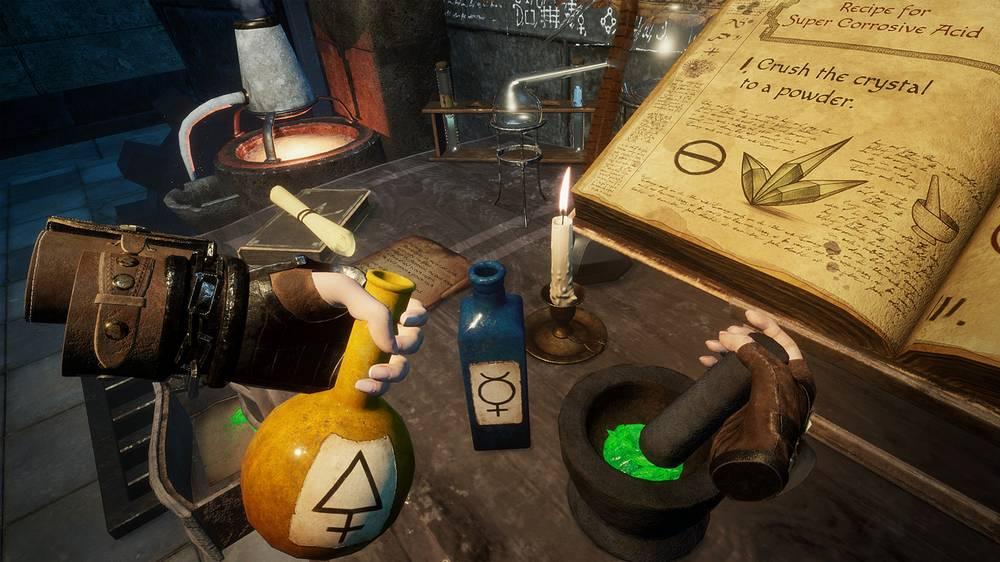 Witching Tower Test Alchemietisch zusammenrühren von Ingredienzien