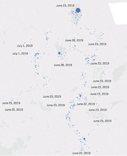 Diese Karte konnte anhand der Ortsangaben in einem einzelnen Datensatz von Wizards Unite erstellt werden. Bild: Kotaku