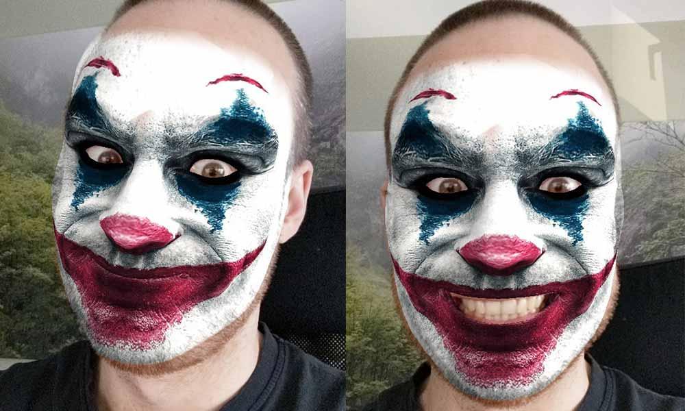 """Grinst wie der """"Joker"""" mit diesem AR-Gesichtsfilter"""