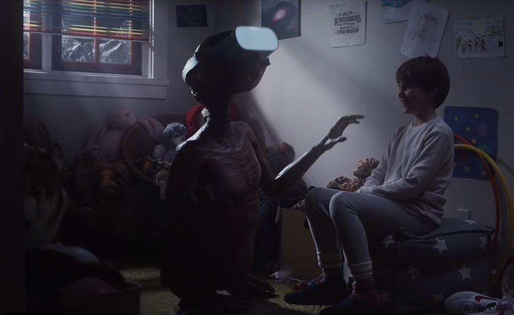 Steven Spielbergs Kinofilm E.T. erhält eine Fortsetzung in Form eines Fernsehspots und Virtual Reality hat einen prominenten Auftritt.