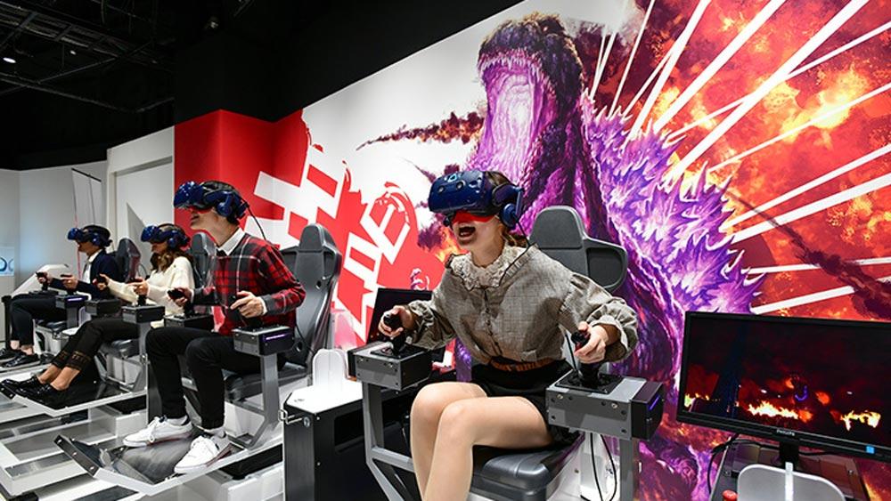 In London kann man jetzt Godzilla in VR-Helikoptern erledigen