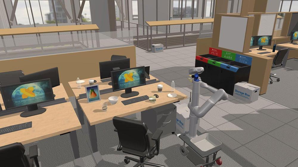 Einblick in die virtuelle Trainingsumgebung. Bild: X.