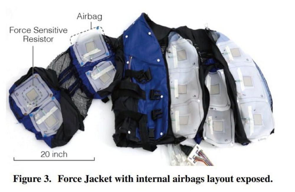 Haptische Force Jacket von Disney, Prototyp in der Forschung