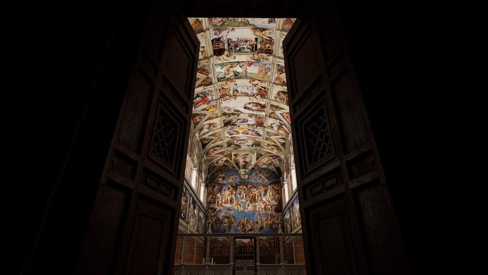 Seit dieser Woche kann man die Sixtinischen Kapelle in der Virtual Reality besuchen.