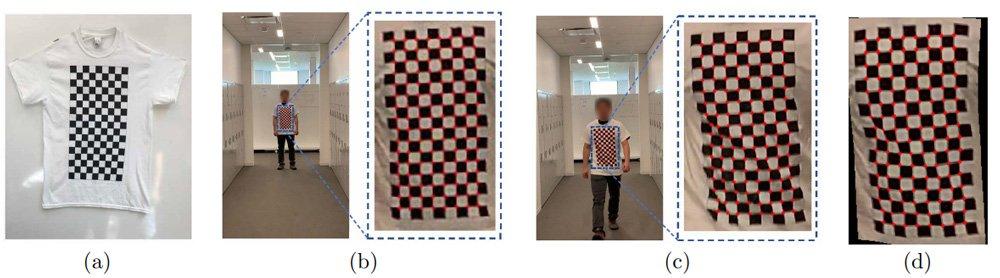 Die KI kann ihre Augen nicht vom Schachbrett-Muster lassen. Eine Person erkennt sie nicht. Bild: Xu et al.