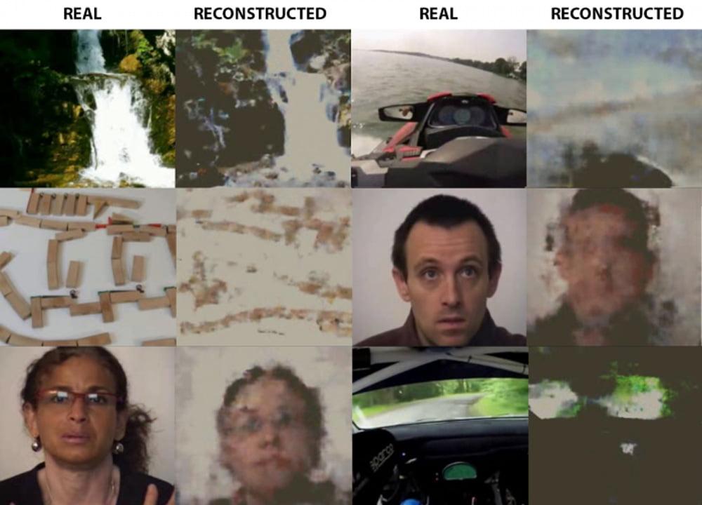 Links ein Bild aus einem der Videos, rechts das Bild, dass die KI generiert hat. Bild: MIPT.