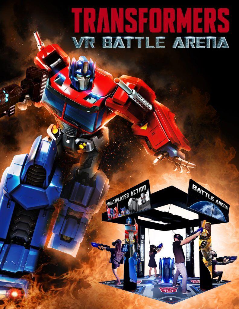Multiplayer-Action in der Transformers VR Battle Arena - vier Spieler treten als Autobot gegeneinander an. Bild: Hasbro