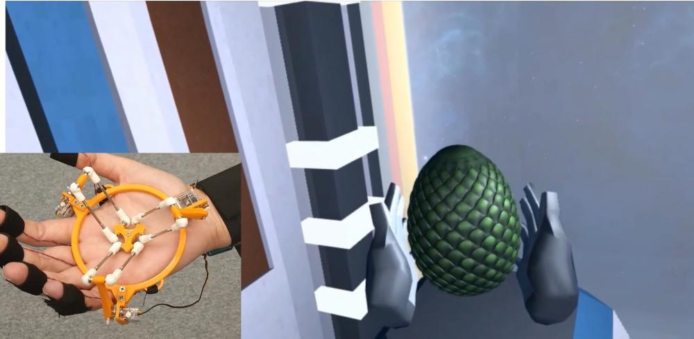 TouchVR: Haptischer VR-Handschuh lässt es kribbeln