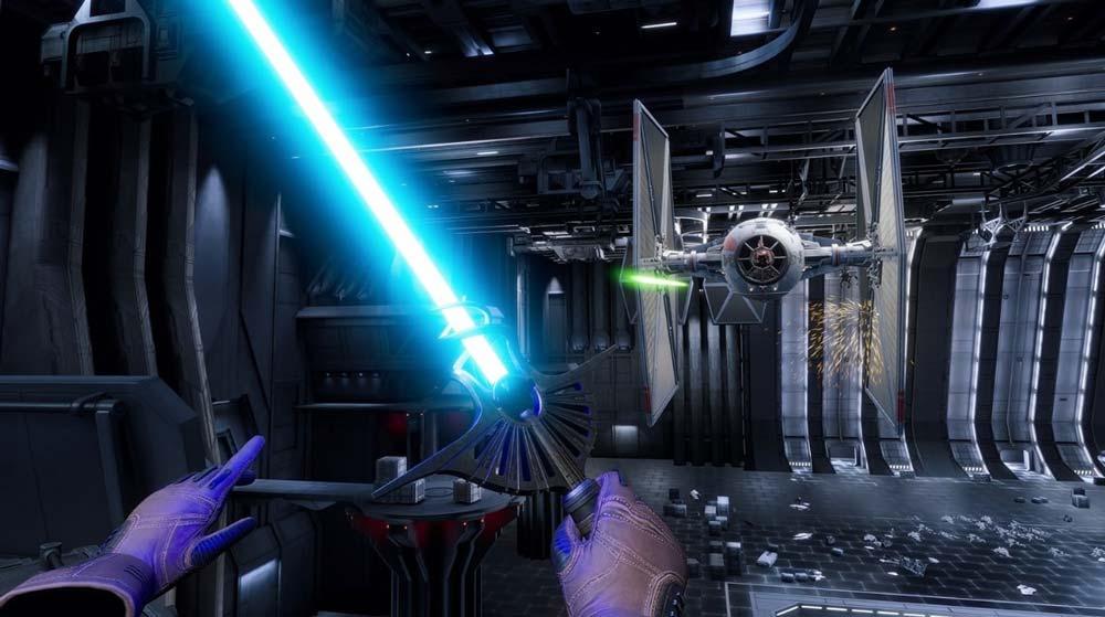 Im Vergleich zu den ersten beiden Episoden bietet Episode III die spektakulärsten Sequenzen. Neben dem Vader-Kampf darf man einen TIE-Fighter aus dem Weg räumen. Bild: Disney