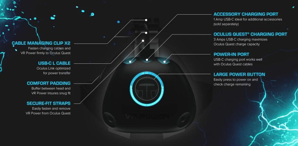 """Das Akkupack """"VR Power"""" für Oculus Quest verspricht längere Laufzeit bei mehr Tragekomfort."""