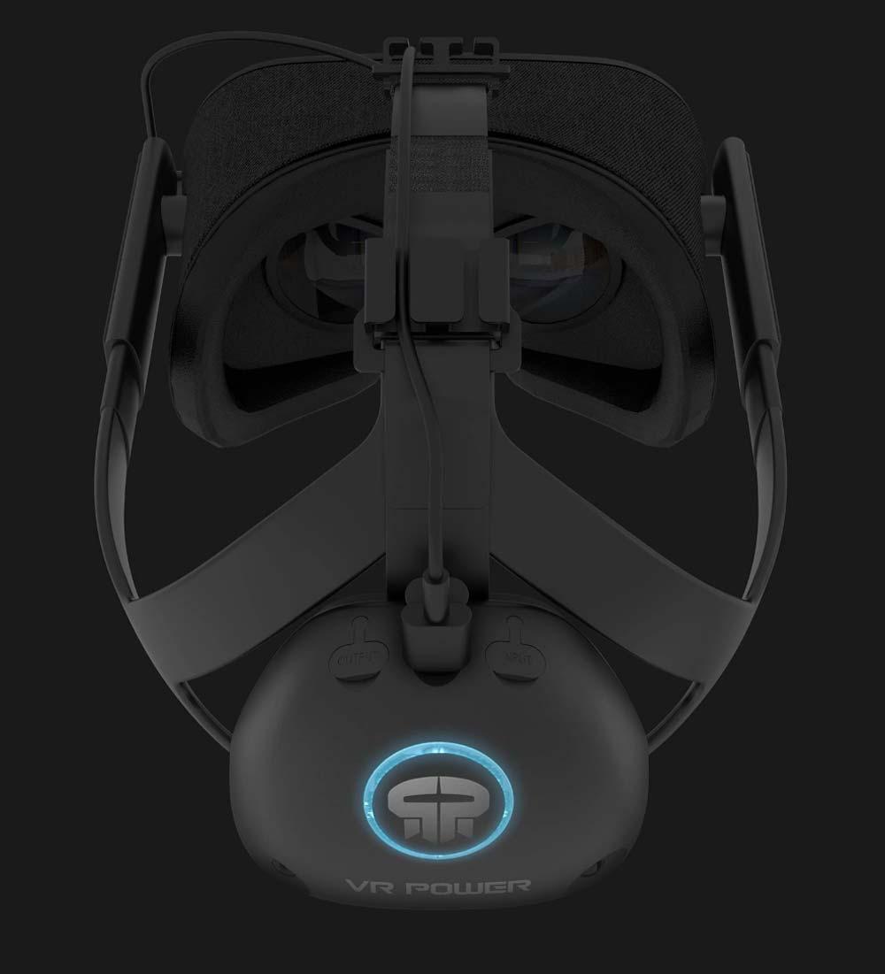 Die Kabelführung wird am Standard-Kopfband angebracht. Sie ist im Lieferumfang enthalten. Bild: VR Power
