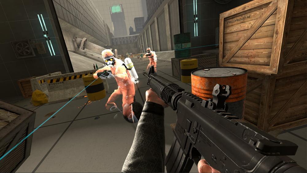 Im Spiel habt ihr Zugriff auf ein ganzen Arsenal an Waffen. Das braucht ihr auch, denn manche Gegner schießen zurück. Bild: Steam.