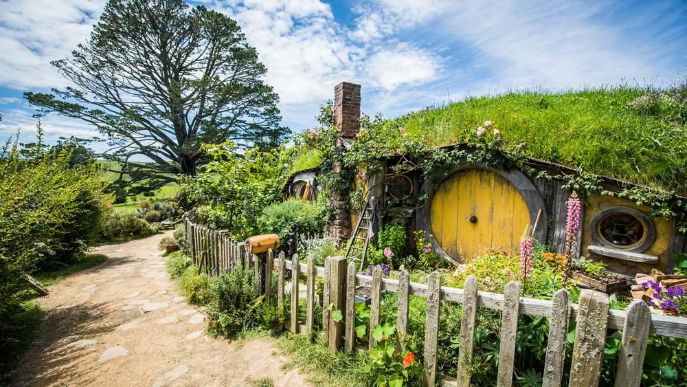Hobbit-Haus vom Filmset in Neuseeland
