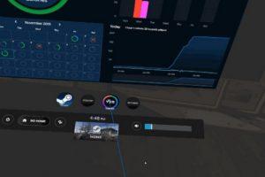 VR Fitness App YUR Steam-Benutzeroberfläche