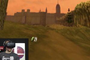 Der Youtuber Swankybox verbrachte 24 Stunden am Stück in einer VR-Version des Fantasyreichs Hyrule.