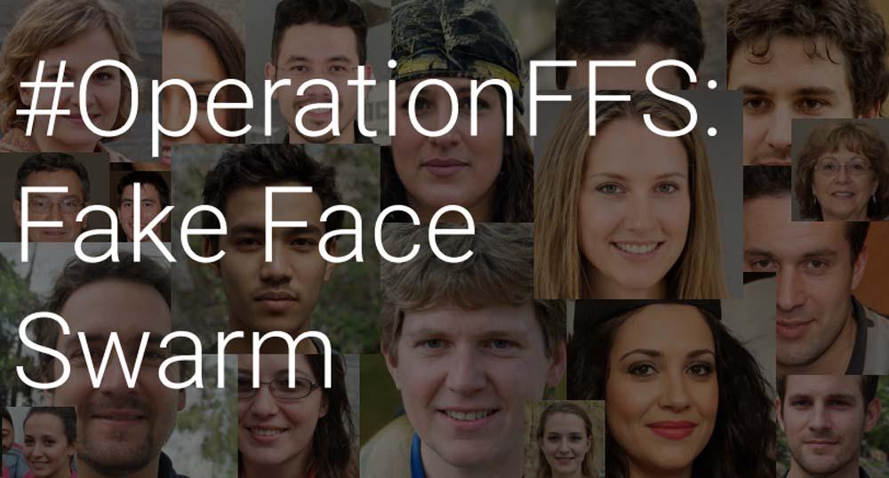 """""""Fake Face Swarm"""" - so nannten die Aufklärer die Rechercher rund um die Deepfake-Porträts. Bild: Graphika"""