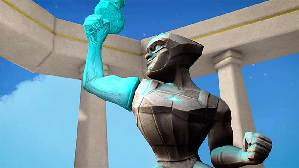 Virtueller Mutmacher: Kinderkrebspatienten erhalten riesige VR-Statue