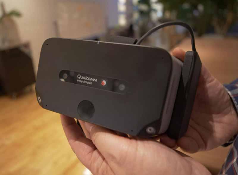 Das Handtrackingmodul der XR2-VR-Referenzbrille basiert auf Ultraleaps Ultraschalltechnologie. Es ist noch nicht funktionstüchtig. Bild: Nic Henry / Cnet