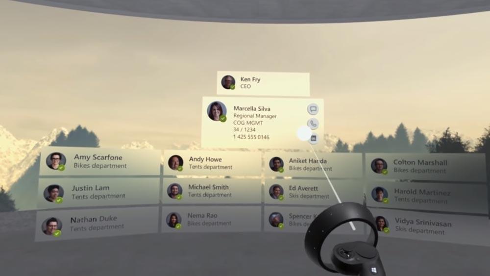 Auch das berüchtigte Sharepoint-Organigramm gibt's in einer XR-Variante. Bild: Microsoft