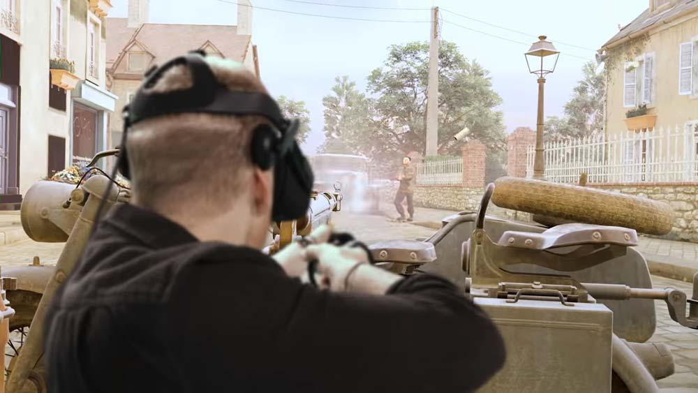 In Medal of Honor VR legt der Spieler dank Bewegungssteuerung die Waffe so ähnlich an wie im echten Leben. Bild: Respawn / Oculus