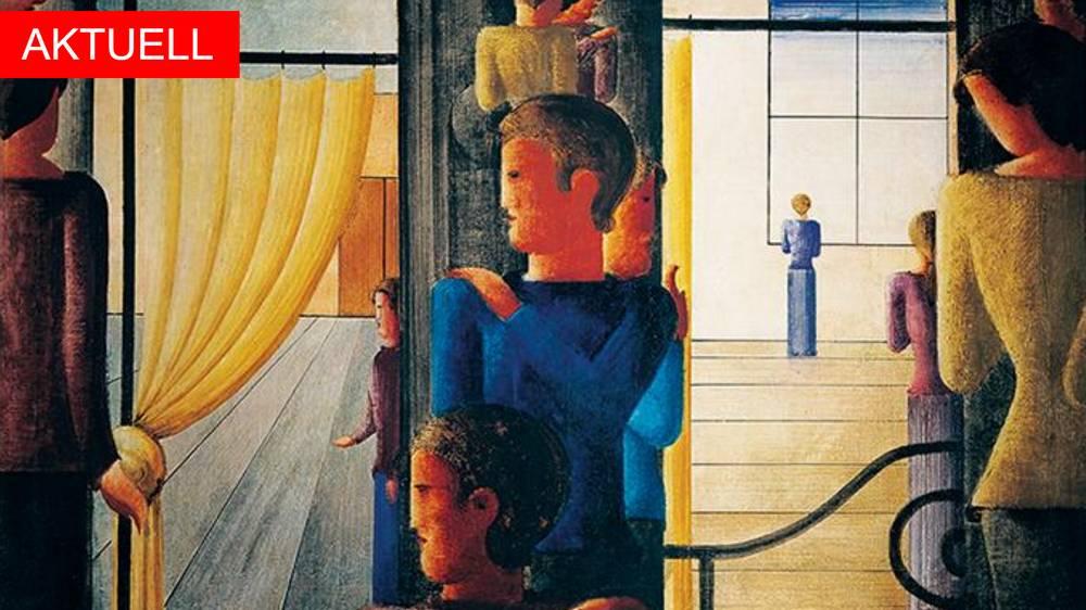 Gemälde-Ausschnitt von Oskar Schlemmer