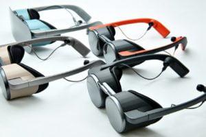 PR-Bild der Panasonic VR-Brillen auf der CES 2020