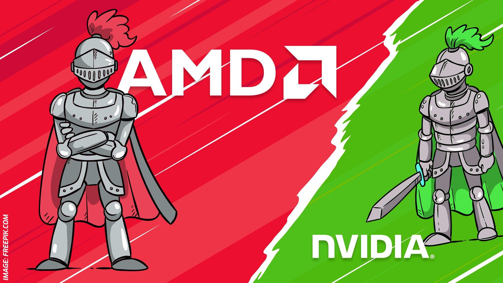 AMD Ritter gegen NVIDIA Ritter