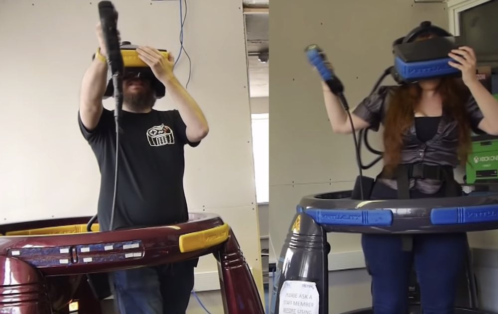 Retro-VR heute: Youtuberin testet 90er-Virtuality-Automaten